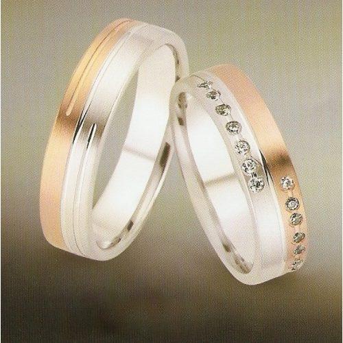 ARANY Bicolor Karikagyűrű – SONSUZA – Gemini csillag