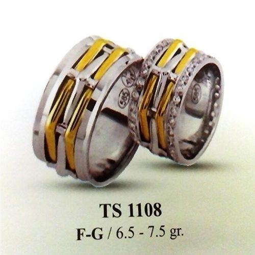 ARANY Bicolor Karikagyűrű – TS1108