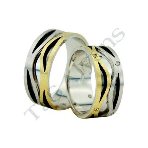 ARANY Bicolor Karikagyűrű – TS1119-R