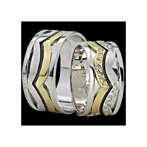 ARANY Bicolor Karikagyűrű – TS1132
