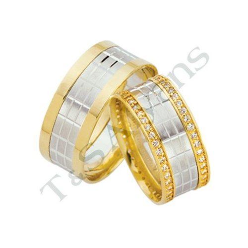 ARANY Bicolor Karikagyűrű – TS1201