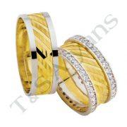 ARANY Bicolor Karikagyűrű – TS1202