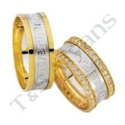 ARANY Bicolor Karikagyűrű – TS1203