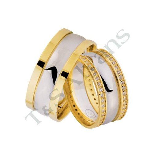 ARANY Bicolor Karikagyűrű – TS1204
