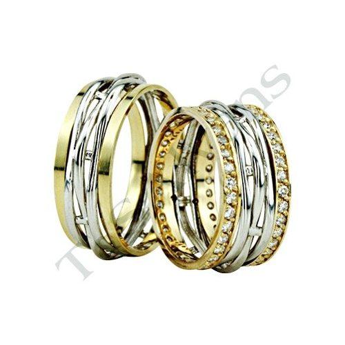 ARANY Bicolor Karikagyűrű – TS1211