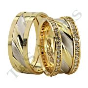 ARANY Bicolor Karikagyűrű – TS1213