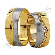 ARANY Bicolor Karikagyűrű – TS1252