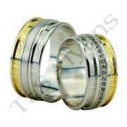 ARANY Bicolor Karikagyűrű – TS1304