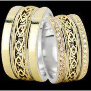 ARANY Bicolor Karikagyűrű – TS1334