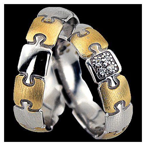ARANY Bicolor Karikagyűrű – TS1357