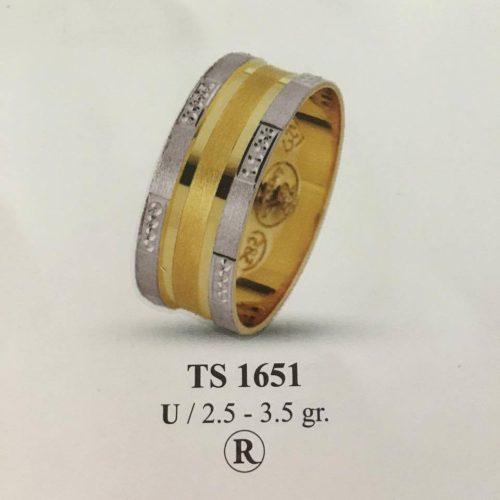 ARANY Bicolor Karikagyűrű – TS1651