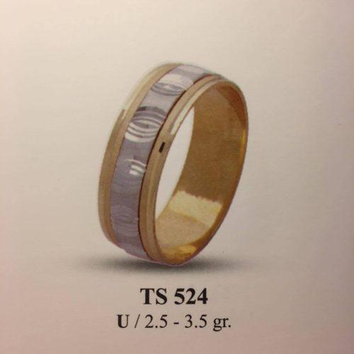 ARANY Bicolor Karikagyűrű – TS524