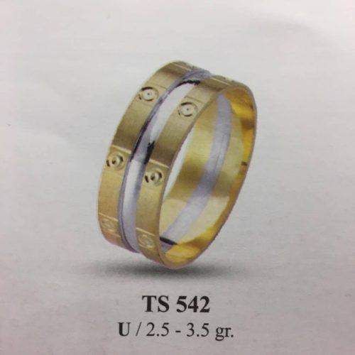 ARANY Bicolor Karikagyűrű – TS542