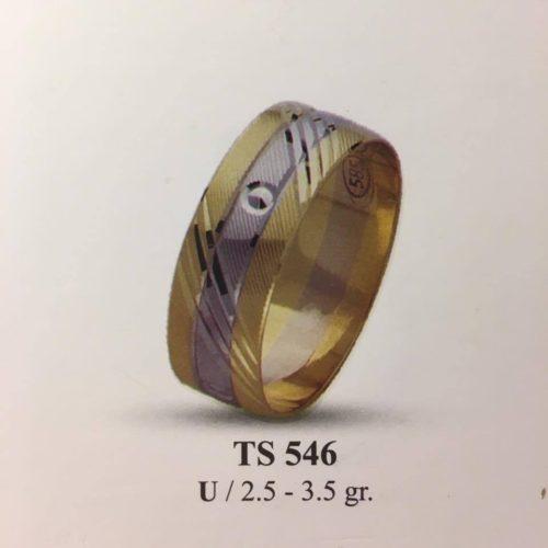 ARANY Bicolor Karikagyűrű – TS546