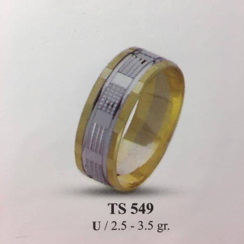 ARANY Bicolor Karikagyűrű – TS549