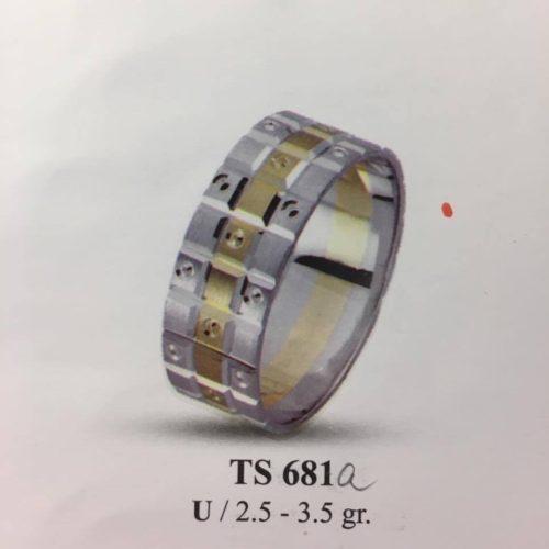ARANY Bicolor Karikagyűrű – TS681