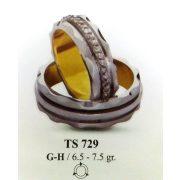 ARANY Bicolor Karikagyűrű – TS729
