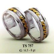ARANY Bicolor Karikagyűrű – TS757