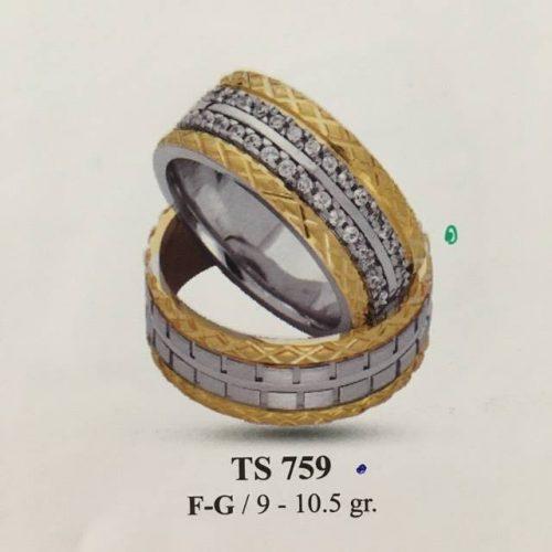 ARANY Bicolor Karikagyűrű – TS759