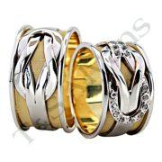 ARANY Bicolor Karikagyűrű – TS772