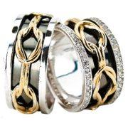 ARANY Bicolor Karikagyűrű – TS923