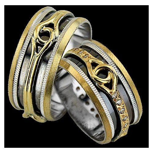 ARANY Bicolor Karikagyűrű – TS948