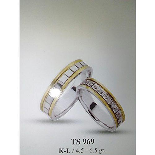ARANY Bicolor Karikagyűrű Köves – TS969
