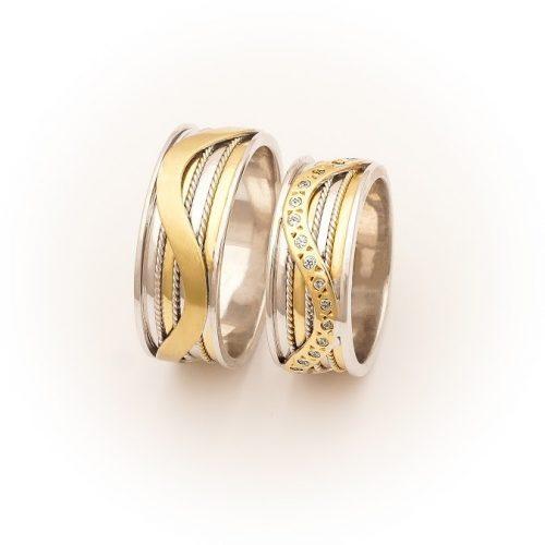 ARANY Bicolor Karikagyűrű – TS993