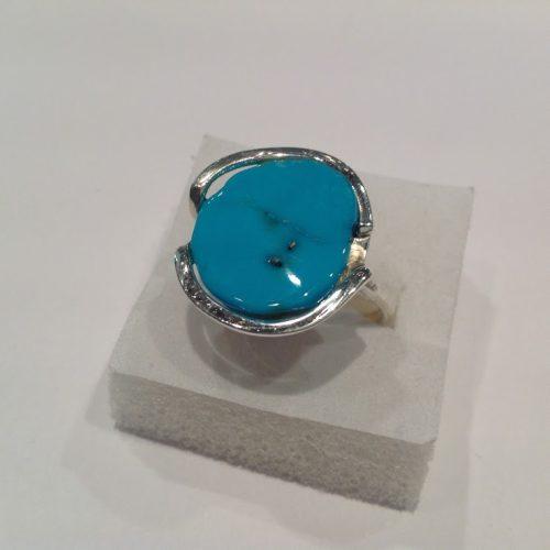 Türkiz köves ezüst gyűrű – Tengeri szépség
