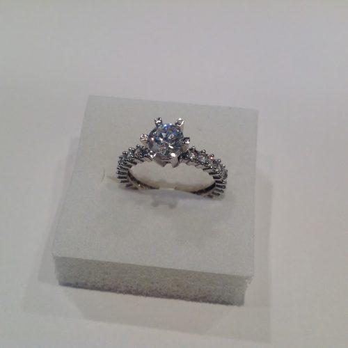 Cirkónia köves ezüst gyűrű – Szikrázás