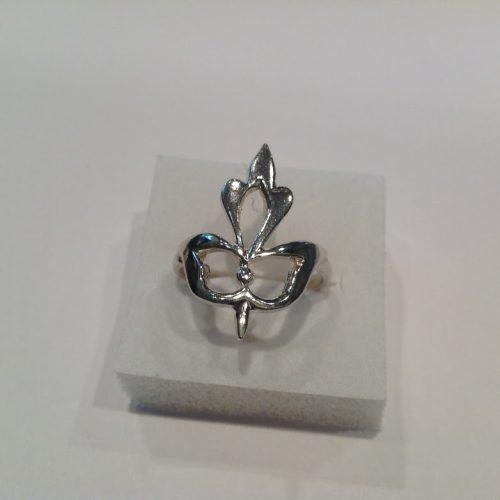 EZÜST Gyűrű – Kalocsai liliom