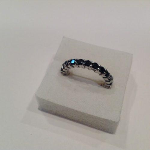 Markazit köves ezüst gyűrű – Fekete szépség
