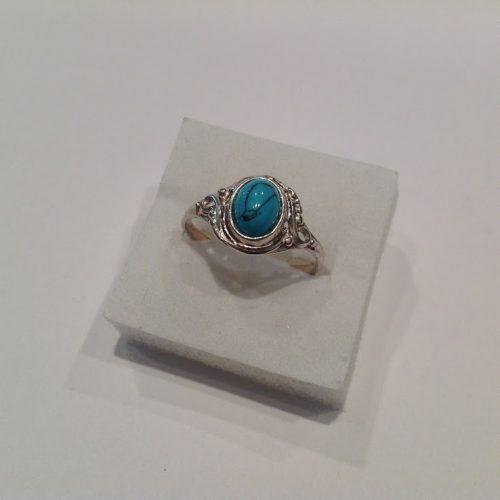 Türkiz köves ezüst gyűrű – Tengerkék ragyogás