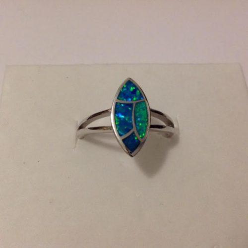 EZÜST Gyűrű Köves – Opál mozaik