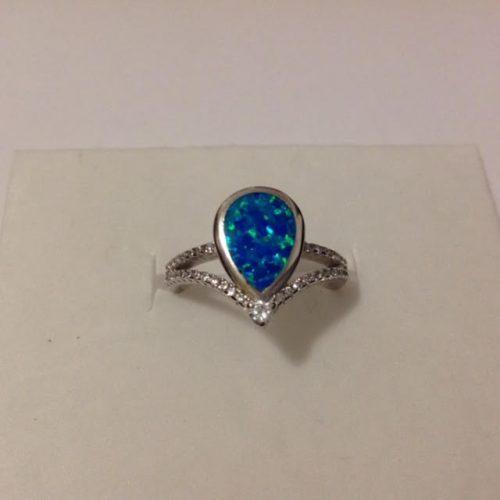 EZÜST Gyűrű – Opál diadém