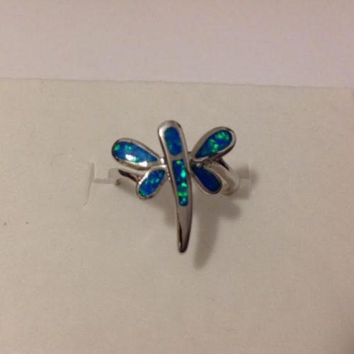 EZÜST Gyűrű – Opál szitakötő