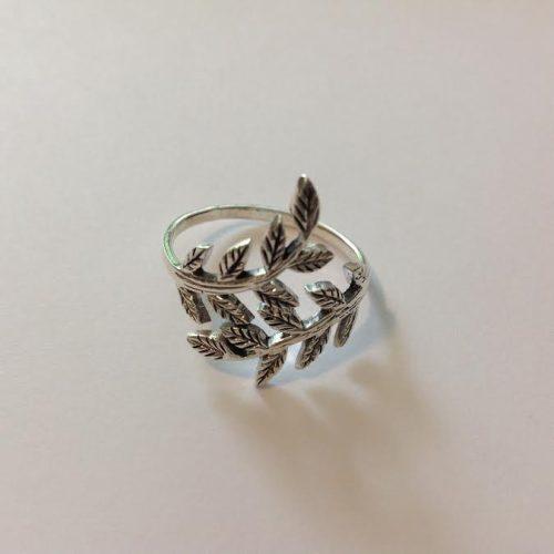 EZÜST Gyűrű – Levélkoszorú