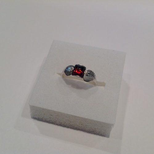 Borostyán köves ezüst gyűrű – Őszi csillogás