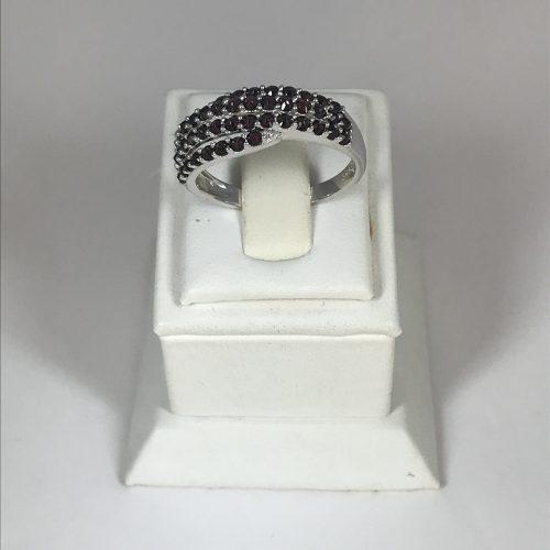EZÜST Gyűrű Gránát – Női – 23