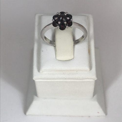 EZÜST Gyűrű Gránát – Női – 24