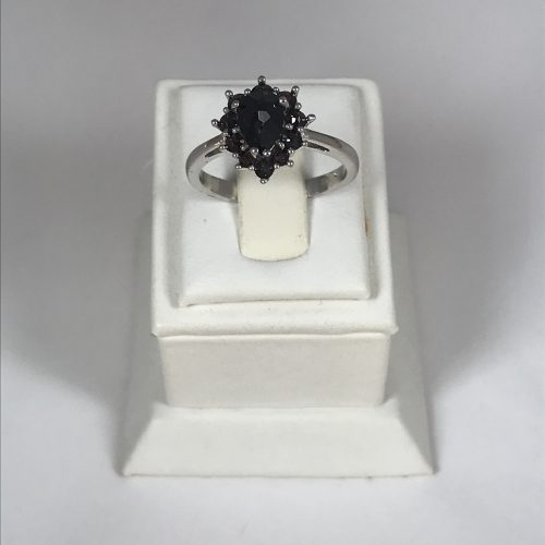 EZÜST Gyűrű Gránát – Női – 26