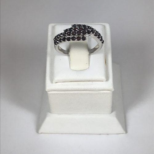 EZÜST Gyűrű Gránát – Női – 27
