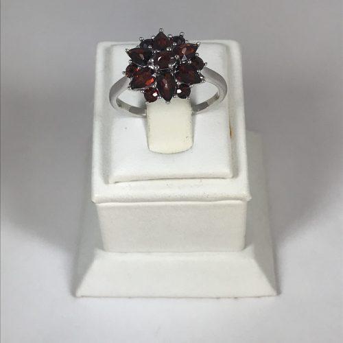 EZÜST Gyűrű Gránát – Női – 28