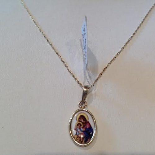 ARANY – Nyaklánc medállal – Mária a Kisdeddel