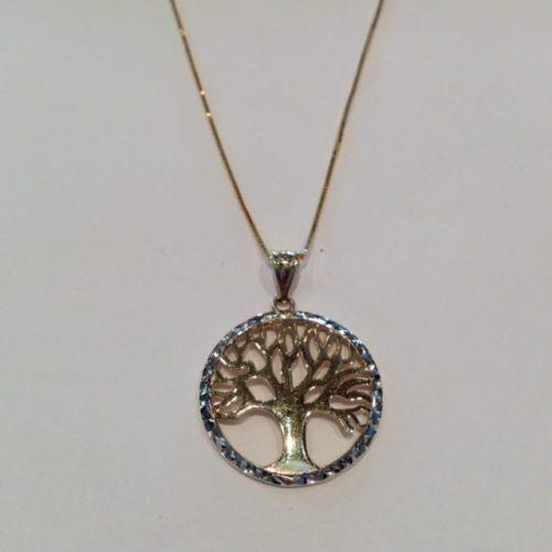 ARANY – Nyaklánc medállal – Az élet fája