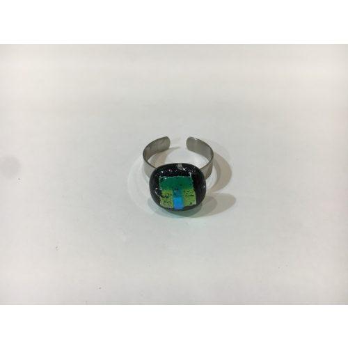 ROZETTA-Üveg Gyűrű-Zöld