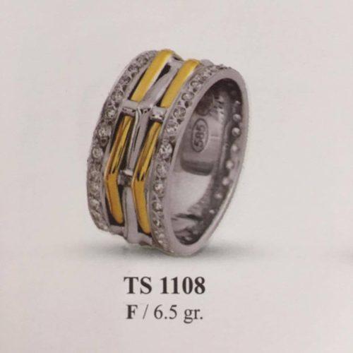 ARANY Bicolor Kísérőgyűrű – TS1108