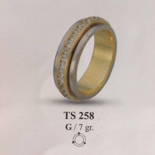 ARANY Bicolor Kísérőgyűrű – TS258