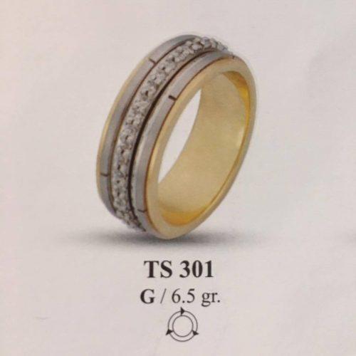 ARANY Bicolor Kísérőgyűrű – TS301