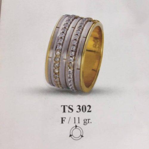 ARANY Bicolor Kísérőgyűrű – TS302